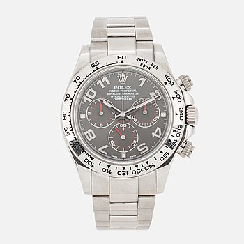ROLEX, Oyster Perpetual, Cosmograph, Daytona, Chronometer,  chronograph, wristwatch, 39 mm.