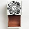 """Piero fornasetti, a """"sole raggiante"""" cube table/ cabinet, milano, italy 2008."""