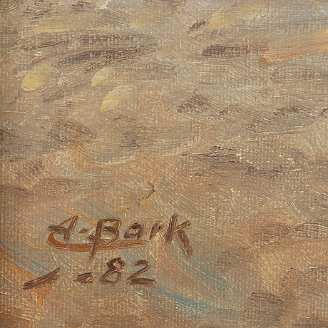Arne bark, oil on canvas, signed and dated -82.