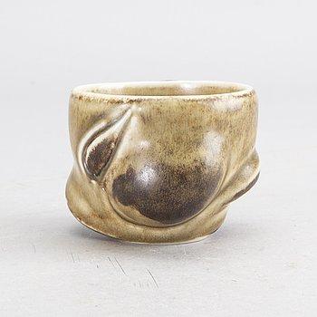 Stoneware bowl by Axel Saltso, Royal Copenhagen, Denmark.