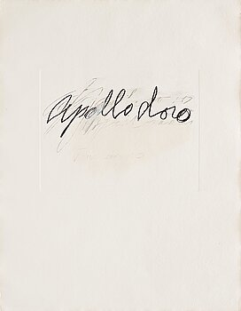 """675. Cy Twombly, """"Apollodoro"""" from """"Six Latin Writers and Poets""""."""