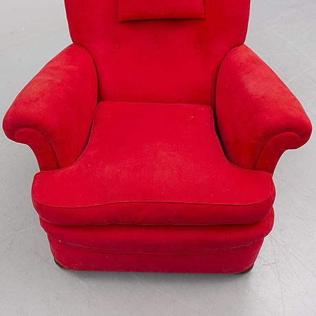 Josef frank, a model 336 easy chair for firma svenskt tenn, sweden.