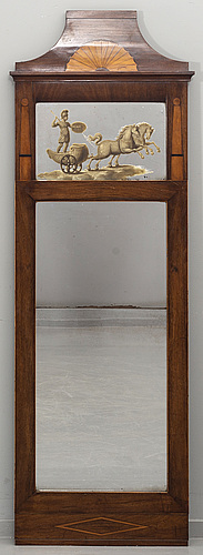 A danish empire mirror, first half of 19th century.