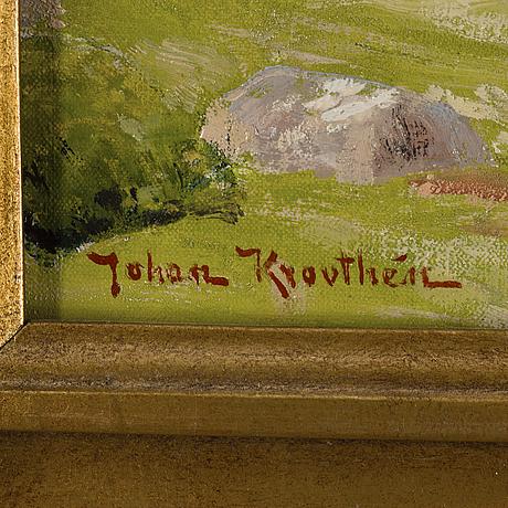 Johan krouthÉn, olja på duk, signerad johan krouthén.