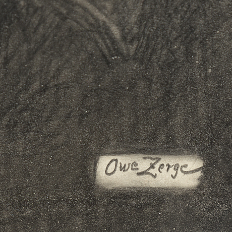 Owe zerge, pencil drawings, signed.