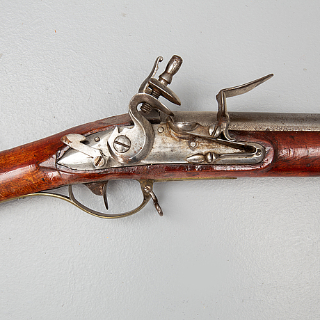 A swedish flintlock gun, pattern 1775.