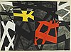 Olle bonniÉr, lithograph in colours, 1950, signed  51/60.