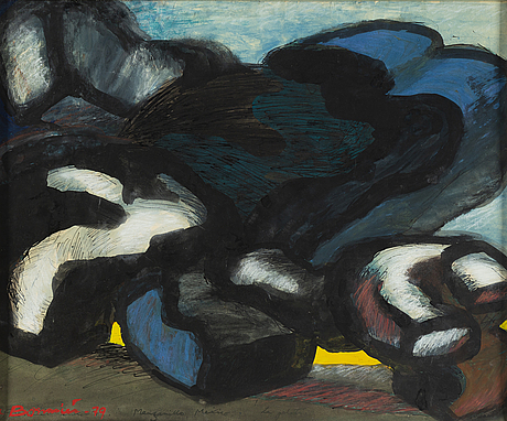 Olle bonniÉr, gouache, signed and dated -79.