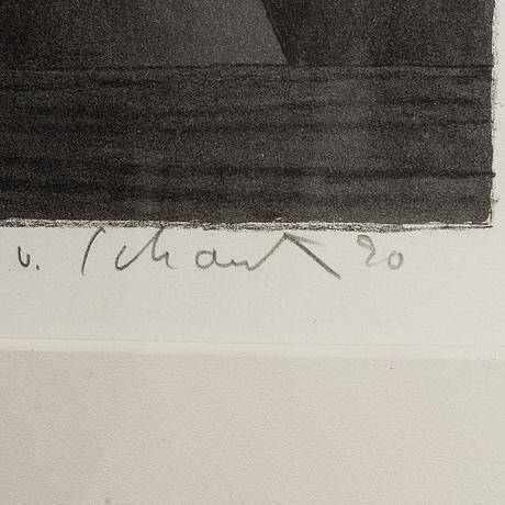 Philip von schantz, 2 st, färglitografier, signerade och numrerade 93/200, 162/180.