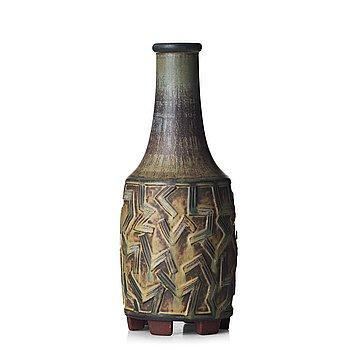 "38. Wilhelm Kåge, a ""Farsta"" stoneware vase, Gustavsberg studio, Sweden 1955."