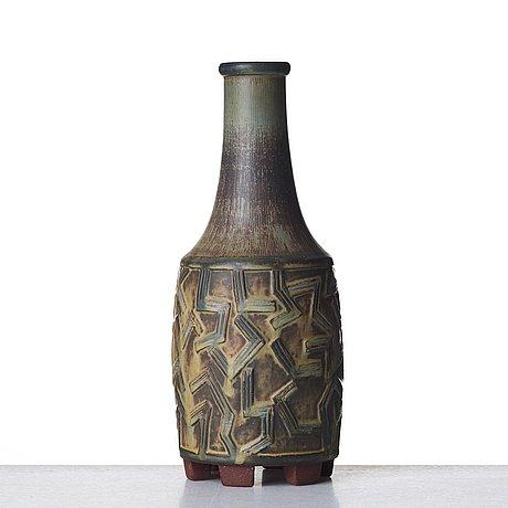 "Wilhelm kåge, a ""farsta"" stoneware vase, gustavsberg studio, sweden 1955."