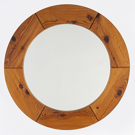 A 1960's pine mirror from glasmäster, markaryd.