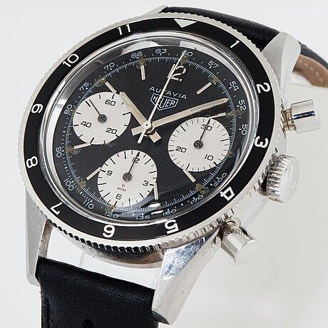 "Heuer, autavia, chronograph, ""special order tachymeter dial""."