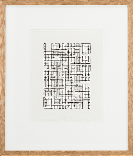Olle borg, inidian ink on paper, 2007, signed.