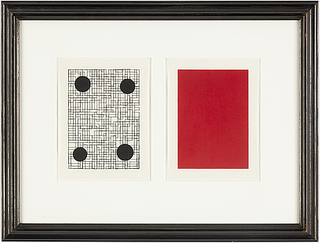Olle borg, indian ink on paper, 2009, signed on verso.