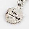 Wiwen nilsson, silver bracelet with charm.
