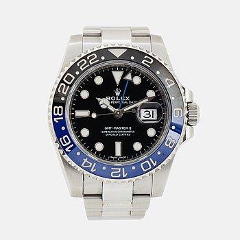 "ROLEX, Oyster Perpetual Date, GMT-Master II, Chronometer, ""Batman"", armbandsur, 40 mm,"
