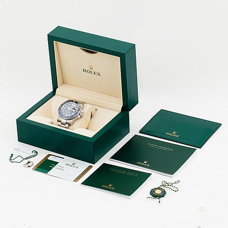 "Rolex, oyster perpetual date, gmt-master ii, chronometer, ""batman"", wristwatch, 40 mm,"