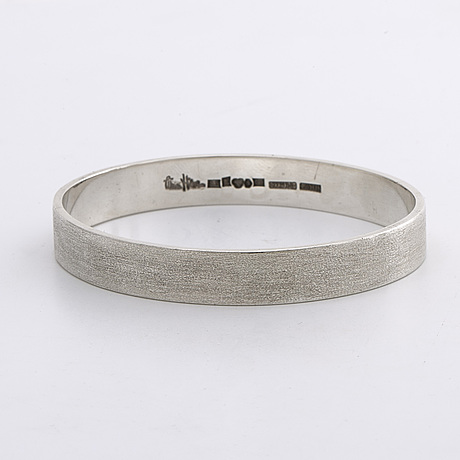 Wiwen nilsson  armring och ring sterling silver lund 1962 och 1964.
