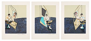 """331. Francis Bacon, """"Three studies of a male back""""."""