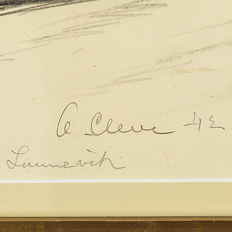 Agnes cleve, pencil. signed a cleve and dated -42.