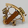 A h hughes & son brass sextant, london, first half of the 20th century.