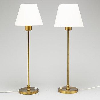 JOSEF FRANK, a pair pair of brass table lamps, Svenskt Tenn, model 2569.