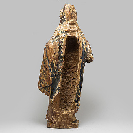 A wooden sculpture, northern europe, 17/18th cenrury.