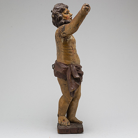 A wooden sculpture, northern europe 18th century.