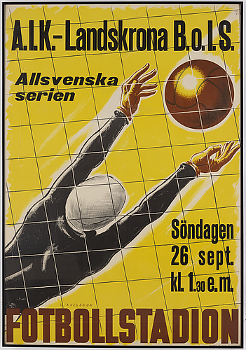 A soccer poster from 1937.