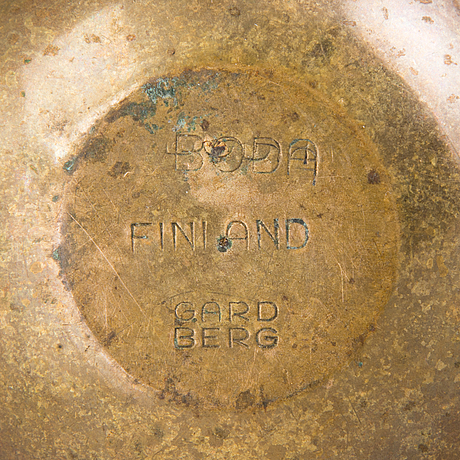 Bertel gardberg, a nutcracker, signed gardberg boda finland.