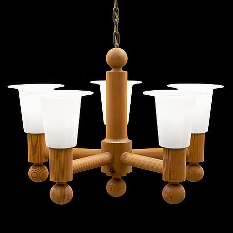 Pine ceiling light, probaly 'pinus' from luxus, 1960's/70's.
