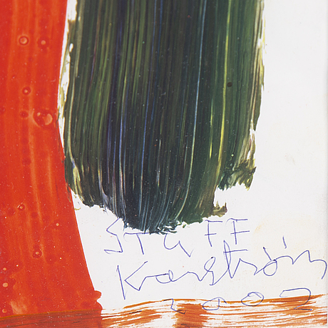 Mauritz karstrÖm, mixed media, signed and dated 2002.