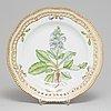 A royal copenhagen 'flora danica' dish, 20th century.