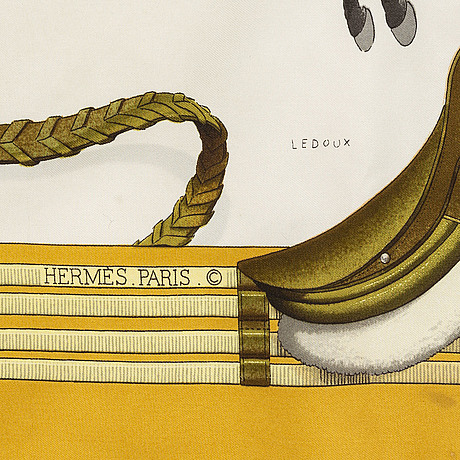 "HermÈs, scarves, 2 st, ""jumping"" & ""la ronde des heures""."