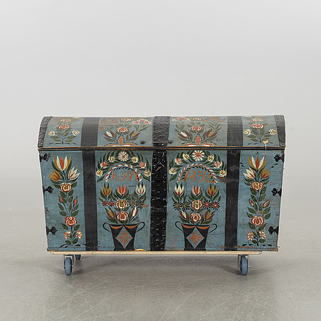 A swedish 19th century chest, dated 1832.