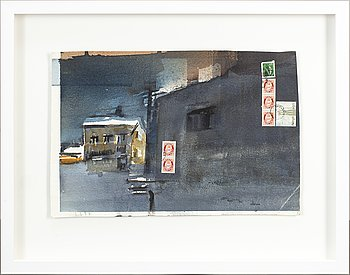 LARS LERIN, watercolor, signed LL and dated -97.