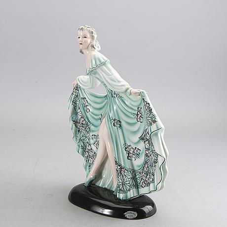 A stephan dakon goldscheider figurine, designed in 1939, austria.
