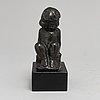 Carl-einar borgstrÖm, skulptur, brons, signerad.
