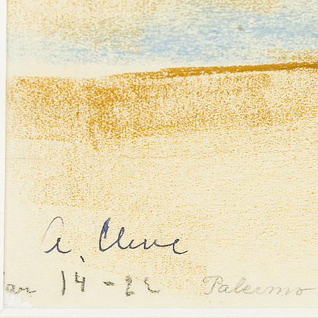 Agnes cleve, pastel, stamped signature a. cleve.