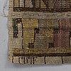 """MÄrta mÅÅs-fjetterstrÖm, a drape, """"skära tulpaner"""", rölakan, ca 258 x 156 cm, signerat mmf."""