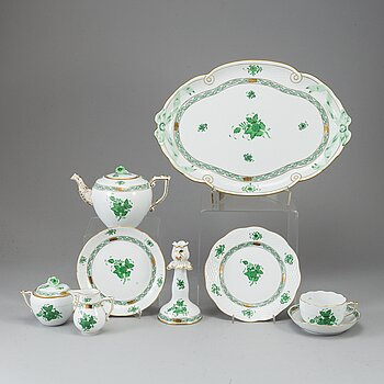 Porcelain tableware, 10 pieces, Herend, Hungary.