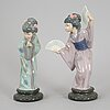 A pair of porcelain figurines, spain, secind half of the 20th century.