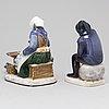 Two bing & gröndahl porcelain figurines, second half of the 20th century.
