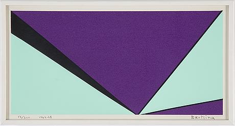 Olle baertling, silkscreen, 1964-68, signed, 52/300.