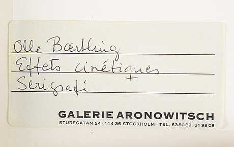 Olle baertling, silk screen 1950-68,  signed 52/300.