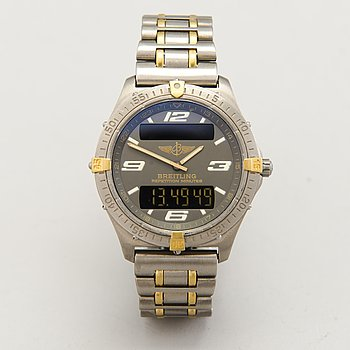 BREITLING, Aerospace, wristwatch, 40 mm.