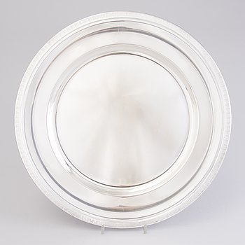 A Norwegian silver dish/ tray, mark of J. Tostrup, Oslo.