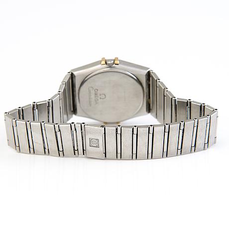 An omega, constellation, wristwatch, 34 mm.