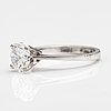 An 18k white gold ring with a brilliant cut diamond ca. 1.50 ct. marked swiss.